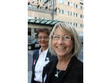 Maud Svensson, verksamhetschef, Lydiagården i Höör, får BROs utmärkelse 2010 med Aina Jonsson