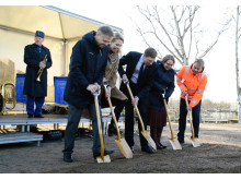 Första spadtaget för ny vårdbyggnad på sjukhusområdet i Helsingborg