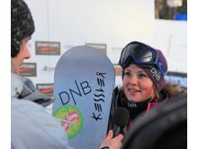 Helene Olafsen_tredjeplass Lake Louise. Foto: Snowboardforbundet