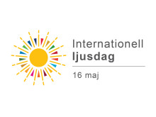 Logotype för den Internationella ljusdagen som arrangeras av Unesco