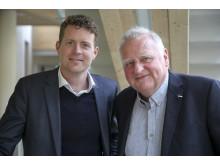 Calejo Industrial Intelligence vd Johannes Holmberg med företagets grundare Carl Johard