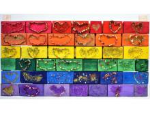 """""""Prideflagga"""" – ett kollektivt verk av elever från Valdemarsro gymnasium"""