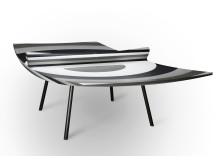 """10 LAYERS"" är ett skulpturerat pingisbord utavSilestone®."