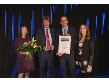 Gewandhausdirektor Prof. Andreas Schulz (2.v.l.) mit dem Leipziger Tourismuspreis 2017