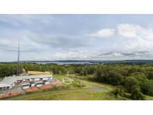 Utsikt från åttonde våningen på Samset