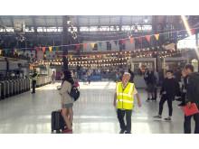Pride - Brighton bunting concourse