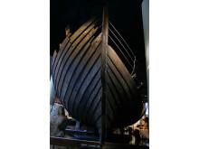 Riddarholmsskeppet så som det hittills tolkats, i Medeltidsmuseets utställning.