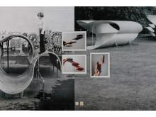 """Installasjons foto av Scale Models fra utstillingen """"Siri Aurdal/Eline Mugaas"""" Skissernas Museum 2018"""