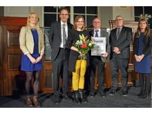Den zweiten Platz in der Kategorie Unternehmen erhielt das Paulinum - Aula und Universitätskirche St. Pauli. Den Preis nahm Dr. Madlen Mammen, Leiterin der Stabsstelle Unternehmenskommunikation, entgegen