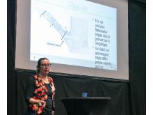 Pomologen Bea Wiström berättar om beskärning av fruktträd på Nolia Trädgård 2019.