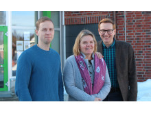 Roger Mikaelsson, Jeanette Viklund och Gunnar Lönnberg är tre av lärarna som arbetar i Erasmusprojekten på Sjulnässkolan.