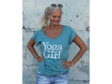 Yoga Girl Moon t-shirt teal