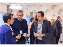 Magnus Lingjærde, porteføljeforvalter i LOS Energy, i dialog med kunder på LOS Energy Day