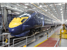 Hitachi Class 395 train in Hitachi's Ashford Train Maintenance Centre