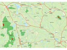 Karta bränningar 2017
