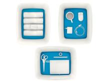 Leitz MyBox blå med innhold