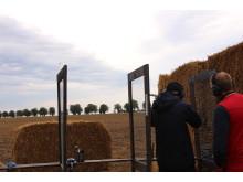 Här kunde besökaren testa olika vapen från kända varumärken på hagelskyttestationerna