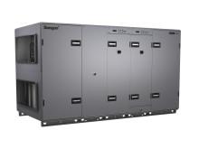 GOLD RX/HC luftbehandlingsaggregat med roterande värmeväxlare och integrerad reversibel värmepump.