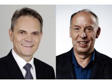 Stolz auf die Förderung: HdWM-Geschäftsführer Wolfgang Dittmann (li.) und Präsident Prof. Dr. Michael Nagy.