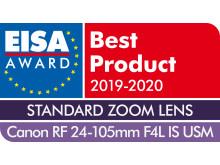 EISA Award Canon RF 24-105mm F4L IS USM