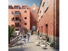 Parkskolan bakgård - från det vinnande förslaget