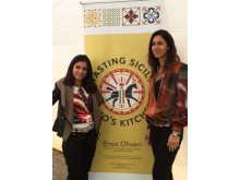 Luisa Ingoglia from Tasting Sicily and Julia Bradbury, together on the day