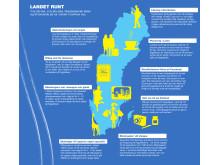 Infografik Resenären (rikssiffror) - Landet runt