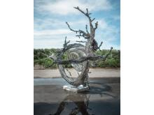 Zheng Lu, Milky Way, rostfritt stål, 115 x 143 x 157 cm
