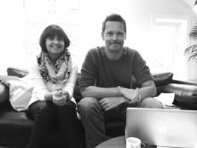 Sissel Gorset (konsulent og prosjektleder) og Knut Robberstad (tekstforfatter)