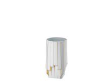 R_Zaha_Hadid_Collection_Strip_Weiß-gold_Vase_30_cm