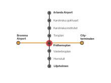 Linjekarta Arlanda Bromma