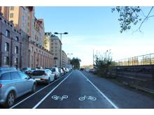 Foto gång- och cykelbana Kungsholms strand