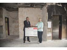 Santander_Spende Nothilfe Kindergarten St. Fidelis