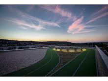"""250-Meter-Laufstrecke über Gera ist spektakuläres Highlight auf dem """"ElsterCube""""-Dach"""