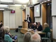 Dr Antoine Lutz, a research director of Inserm, who is the meditation lead for the Silver Sante Study, addressing the Mindfulness APPG meeting.