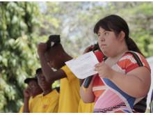 Victoria Valverde talar i Dar es Salaam