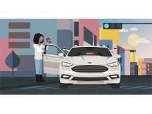 Kooperation zwischen Ford und Lyft
