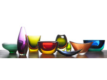 Torben Sørensen's glass collection