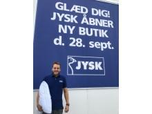 Jens Aunsbjerg Olsen, butikschef i JYSK Kolding Syd, er klar til åbningen den 28. september.