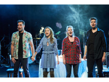 Fra '24 timer Musicals' i 2018 på Bremen Teater. Fra venstre Farshad Kholghi, Anne Kaack, Freja Eva Lockenwitz og Thomas Amt Kofoed.