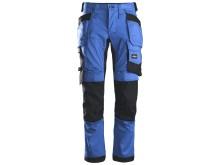 6241 AllroundWork, Stretch Arbeidsbukse med hylsterlommer, blå