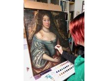 Conservation work being undertaken on Lady Lettice