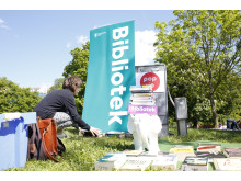 Pop up-bibliotek i Tantolunden