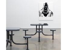 Gardar Eide Einarsson, Untitled (Dining Cluster) [Utan titel (Matplatskluster)], 2006: Hate Monger  [Hatspridaren], 2010