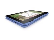 HP Chrome x360 11 blue tablet view