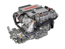 High res image - YANMAR - new 4LV marine diesel engine - right side back