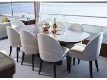 High res image - Princess Motor Yacht Sales - Princess 75 interior dining area