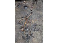 Menneskeskelet fra en massegrav ved Alken Enge, Østjylland,  med min. 380 krigere fra 1. århundrede