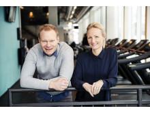 Daglig leder i STERK, Kjetil Larsen, har høye ambisjoner for det nye treningssenteret. Her med utleiesjef Cecilie Landgraff Bruusgaard, som er veldig fornøyd med å kunne tilby et bredt og komplett helse- og treningstilbud på HasleLinje.