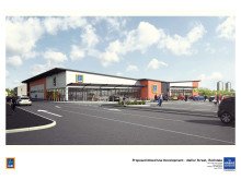 An artist's impression of what the new Aldi store could look like
